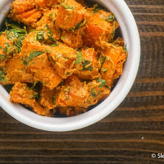 Dairy Free Curried Sweet Potato Salad.