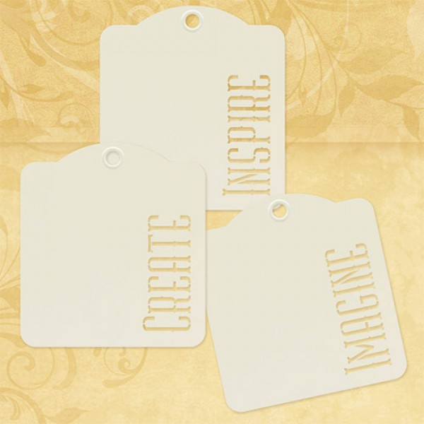 Inspire, Create, Imagine—Ivory Tags