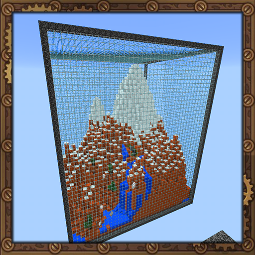Prism islands, map for MCPE.
