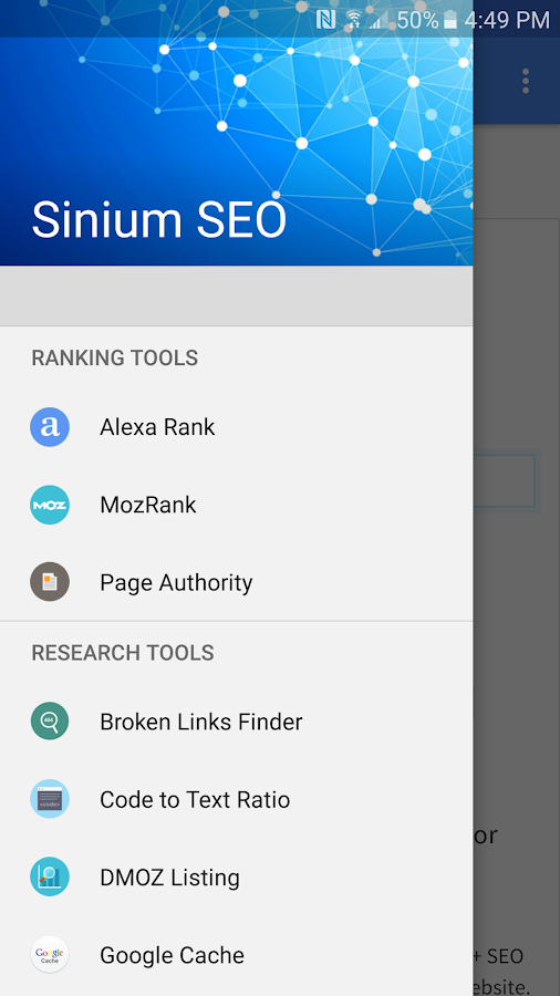 Sinium SEO Tools- screenshot