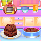 Fruit Chocolate Cake Cooking