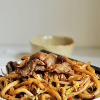 Stir-fry Beef Udon Noodles (Yakiudon).