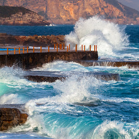 Montenegro rolls by Maxim Malevich - Landscapes Waterscapes ( montenegro, ploce, roll, waves, sea, surf )