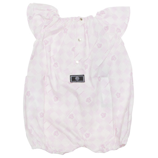Thumbnail images of Young Versace Pink Medusa Romper