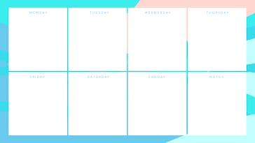 Pastel Weekly - Weekly Calendar template