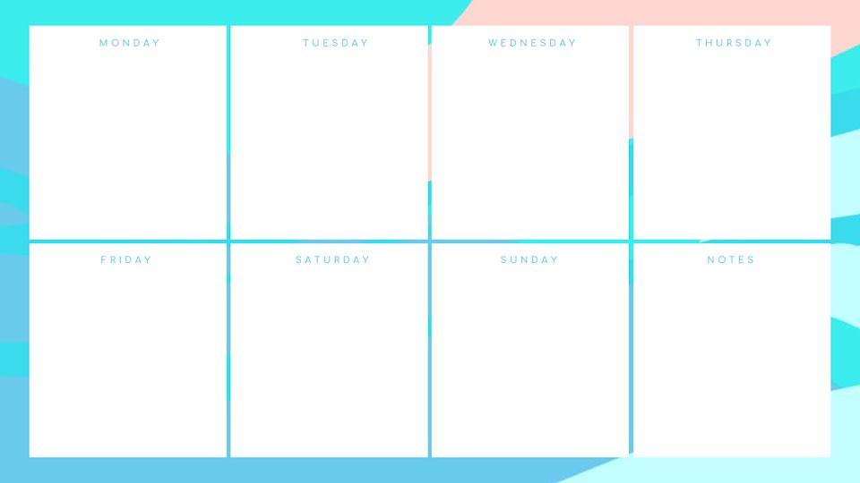 Pastel Weekly - Calendar Template
