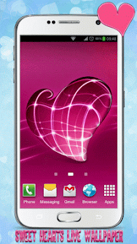 Sweet Hearts Live Wallpaper By My Cute Apps Poster