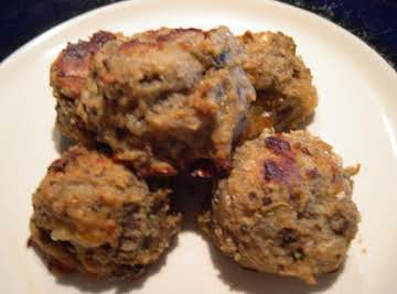 Eggplant Parmesan balls baked or fried