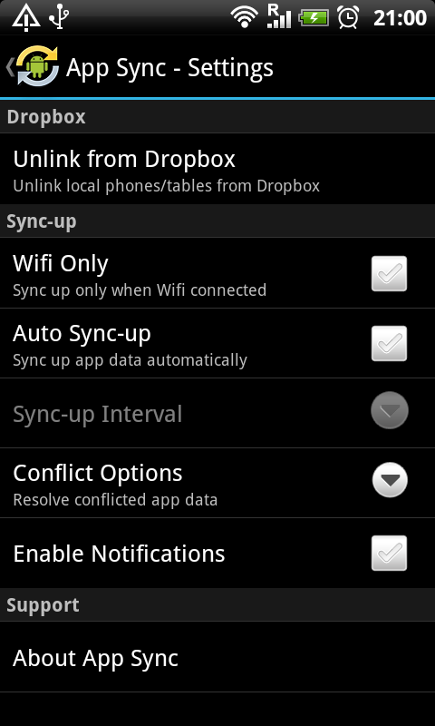 App Sync- screenshot
