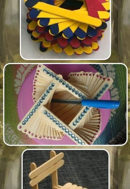 Ice cream stick project ideas android apps on google play for Best out of waste ideas from ice cream stick