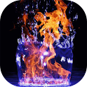 Fire in water live wallpaper icon
