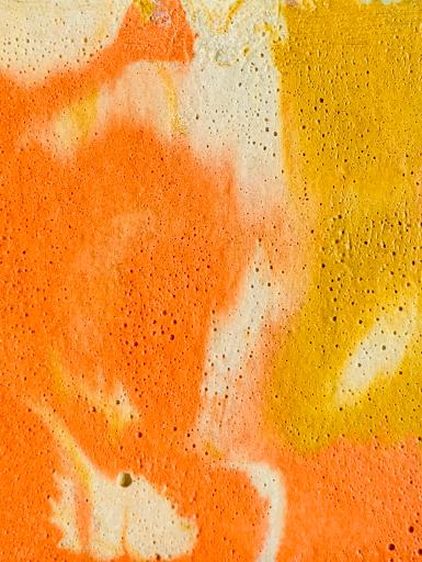 béton marbré jaune et orange