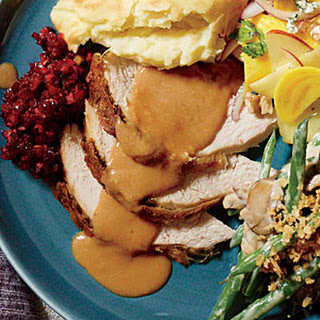 Oil-Basted Parmesan Turkey with Walnut Gravy