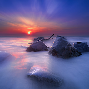 Morning glow on bolder point by Sushmita Sadhukhan - Landscapes Sunsets & Sunrises (  )