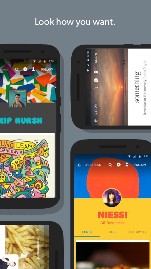 Screenshots of Tumblr for iPhone