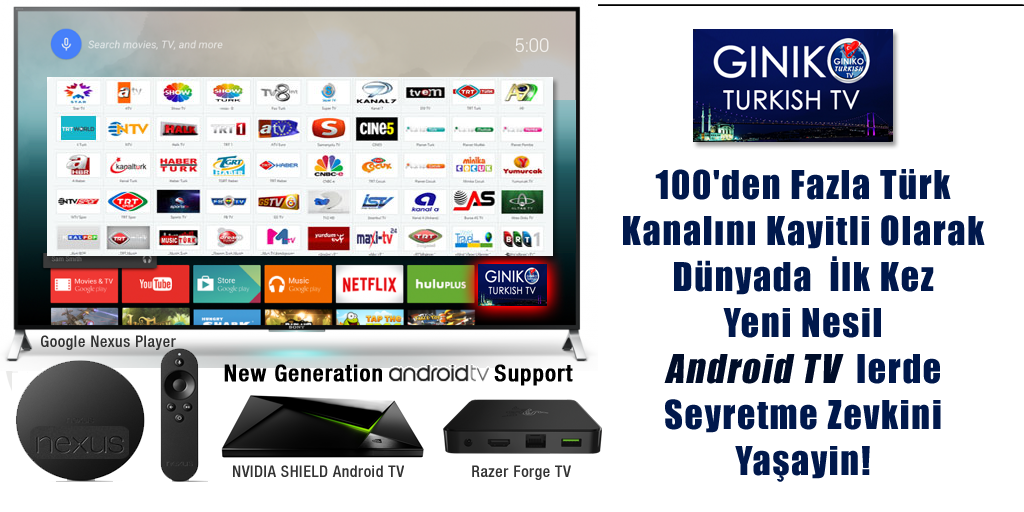 GinikoTurkish TV for AndroidTV- screenshot