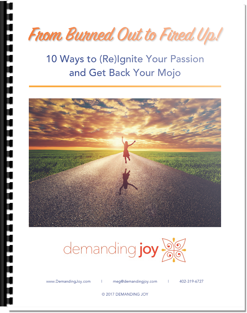 From Burned Out to Fired Up - 10 Ways to Re Ignite Your Passion and Get Back Your Mojo (book cover)