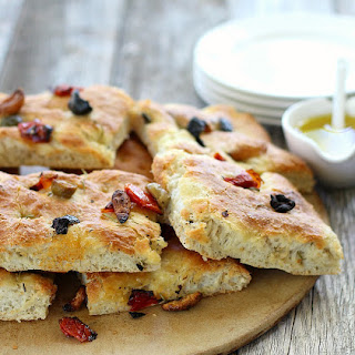 Focaccia Bread with Olives and Rosemary