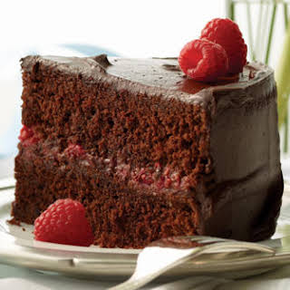 Chocolate Raspberry Celebration Cake.