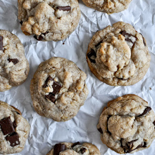 Brown Butter Oatmeal Chunk Cookies.
