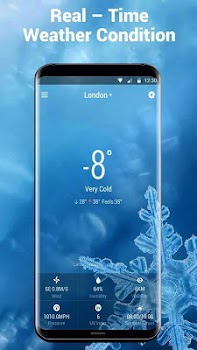 Real-time weather displayandwind speed and direction
