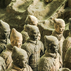 Chinese Terracotta Warriors by Pilar Gonzalez - Artistic Objects Other Objects ( xi'an, ancient, terracotta warriors, closeup, china,  )