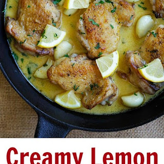 Creamy Garlic Lemon Chicken Recipe