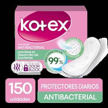 Protectores Kotex   Antibacterial x 150Und
