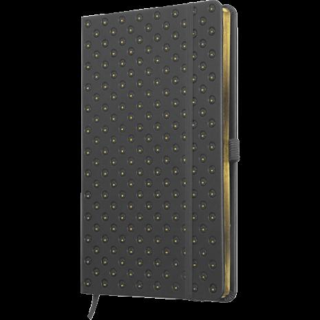 Anteckningsbok BLOMMA - grå/guld