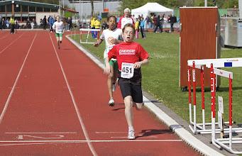 Photo: Sean over de finish