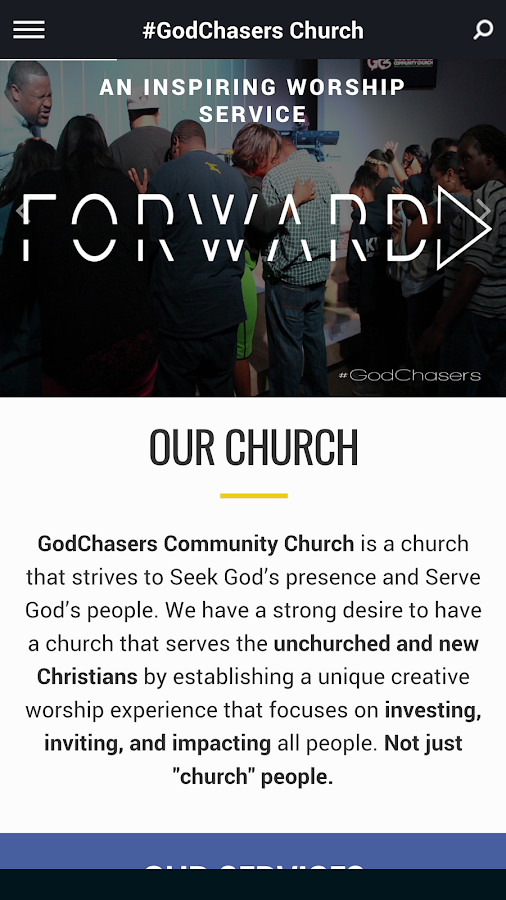 GodChasers Community Church- screenshot