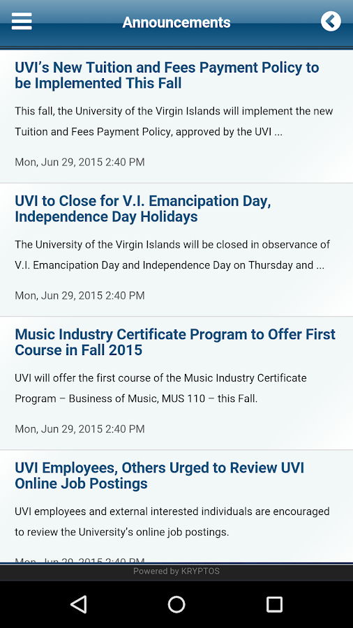 UVI Mobile - screenshot