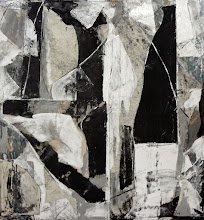 """Photo: Petrified Forest (enamel,charcoal and canvas on canvas) 58 x54"""" 2015 (on consignment)"""
