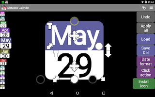 Screenshot of Status bar Calendar