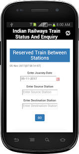 Indian Railways Train Status And Enquiry - náhled