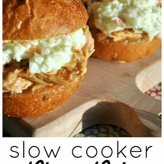 Slow Cooker Cherry Coke Barbecue Chicken Sliders.