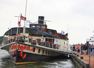 Photo: De Kapitein Kok is de laatst overgebleven radersalonboot in Nederland. Het schip viert zijn 100-jarig jubileum.