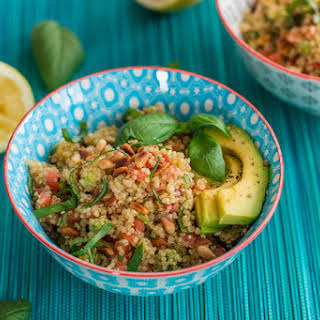 Quinoa Salad with Tomato and Avocado.