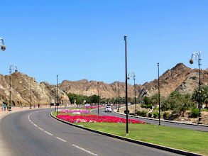 Photo: Muscat - Al-Bahri Rd between Mutrah and Old Muscat