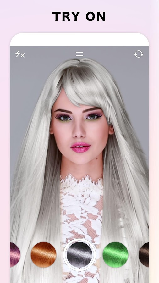 Fabby look hair color changer style effects android apps on fabby look hair color changer style effects screenshot urmus Images