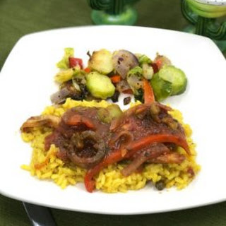 Pollock Vera Cruz Over Yellow Rice Recipe