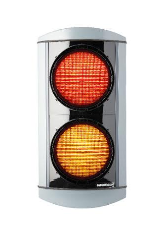 Alustar 200 mm 2-lys rød/gul opadvendt