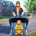 Virtual Mother Simulator:Single Mom Vs Babysitter icon