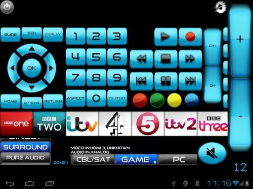 Remote for Panasonic TV+BD+AVR screenshot 1
