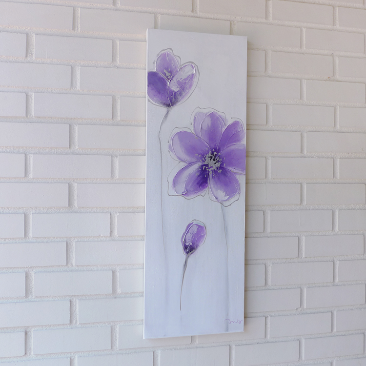 Contemporary Mix Media Painting _Verpurple_30 x 90 by K RULES ENTERPRISE