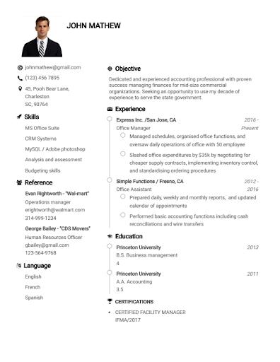 Resume Builder App Free CV maker CV templates 2020 screenshot 7