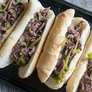Bison Cheese Steak Sandwiches