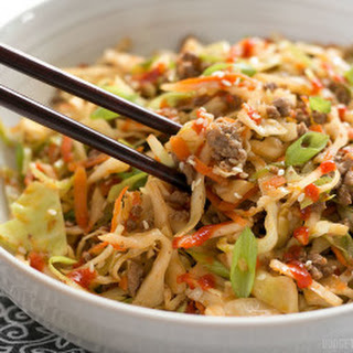Beef and Cabbage Stir Fry.