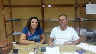 El portavoz del PP de Cantoria, Pepe Llamas (derecha).