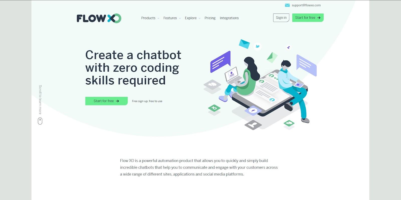 flowxo homepage